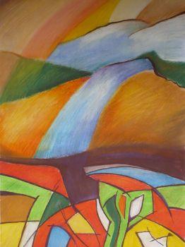 pastelove kopce1/43x61cm/na predaj