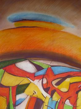 pastelove kopce/43x61cm/na predaj